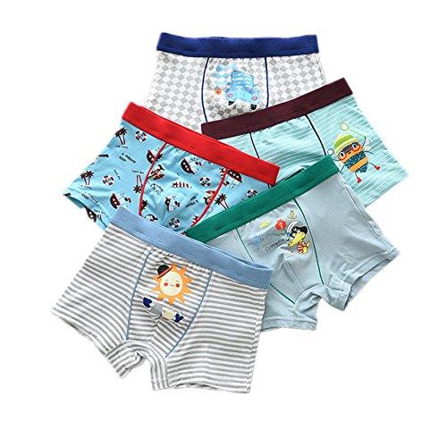 Kimjun Toddler Baby Boy Boxer Briefs Kid Underwear Boys Cotton Shorts Boxer 5 Pack 3/29