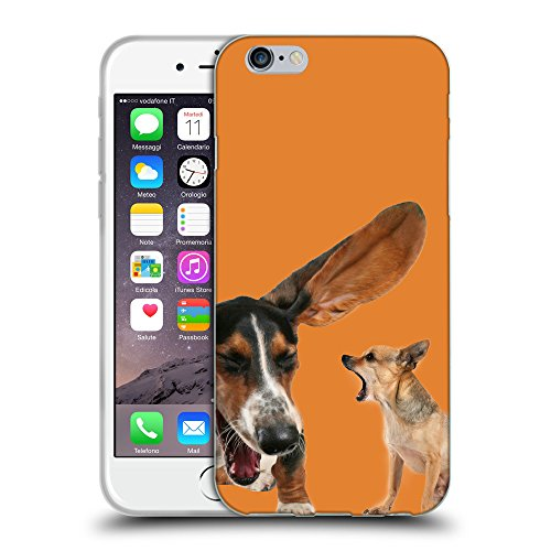 GoGoMobile Coque de Protection TPU Silicone Case pour // Q05600623 Basset chihuahua Cadmio Arancio // Apple iPhone 7