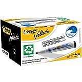 BIC Velleda 1701 ECOlutions Whiteboard Pens - Black, Box of 12
