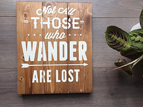 Not All Those Who Wander Are Lost Sign, Well Travelled Sign, Travel Lover Sign, Travel Print Art, Travel Wall Art, Travel Sign, Wanderlust
