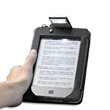 Acase(TM) Kindle PaperWHite and Kindle Touch Reading Book Light Leather Case (Black)