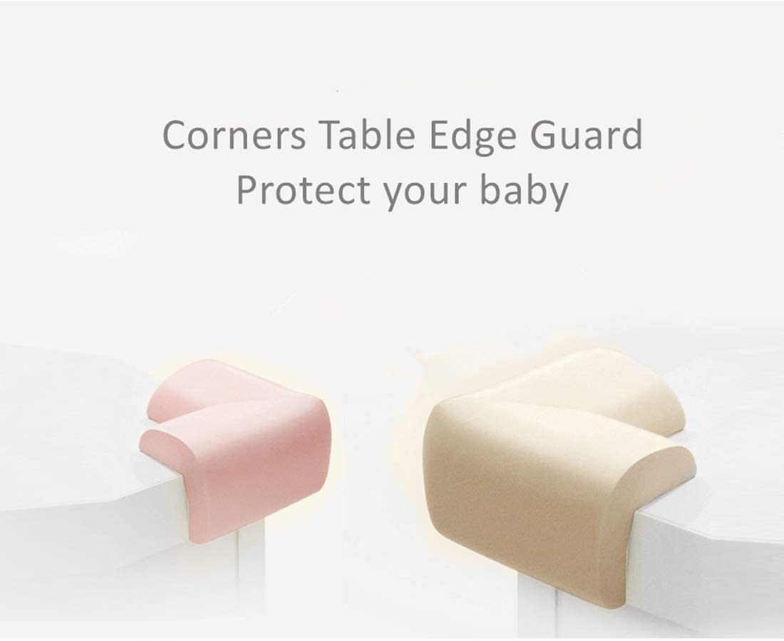 B/éb/é Protection coin de table,Jiechang Coin bord Coussins /épaisse Protection d/écran,assure la S/écurit/é de lEnfant 8 PCS Marron