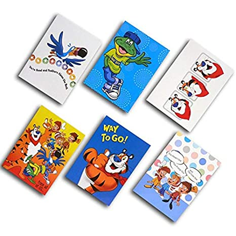 Amazoncom Kelloggs Characters Greeting Cards Set Of 12