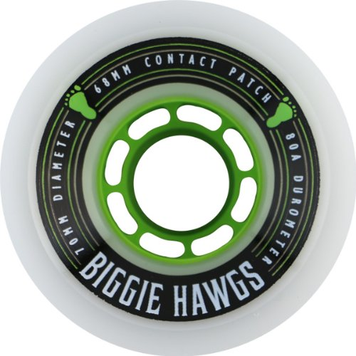 ラブアルコール刺激するHawgs Wheels Biggie White Skateboard Wheels - 70mm 80a (Set of 4) by Hawgs Wheels