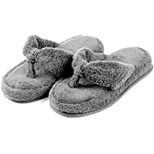 EuropeanSoftest Women's Cozy Soft Premium 100% Terry Cotton Cloth Spa Thong Flip Flops House Indoor Slippers