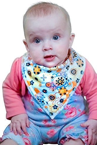 Baby Bandana Drool Bibs By Daulia, Girls 7-Pack Absorbent Pure ...