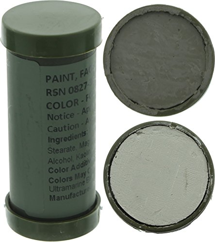 Camo Face Paint, NATO Camouflage Military Makeup Paint Sticks (Foliage Green & Grey - 1 Stick - 2 (Foliage Green Paint)