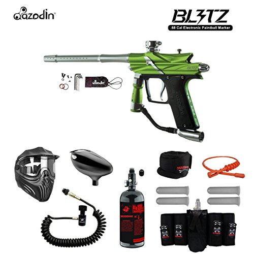 - MAddog Azodin Blitz 3 Electronic Elite Remote HPA Paintball Gun Package - Green