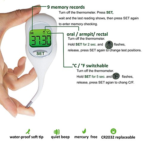 Basal Thermometer and 50 Ovulation (LH) Test Strips for TTC Women to Catch Perfect Ovulation and Get Pregnant Naturally by Wagen (Image #6)