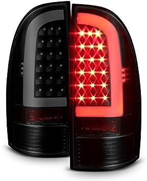 Fits 05-15 Toyota Tacoma Pickup Truck LED Tube Black Tail Lights Brake Lamp Pair