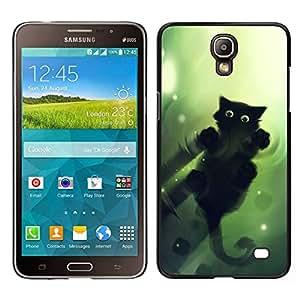 Caucho caso de Shell duro de la cubierta de accesorios de protección BY RAYDREAMMM - Samsung Galaxy Mega 2 - Gato Verde