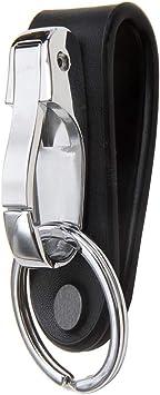 Genuine Leather Belt Buckle Key Chain Clip 2 Loops Keychain Key Ring Holder