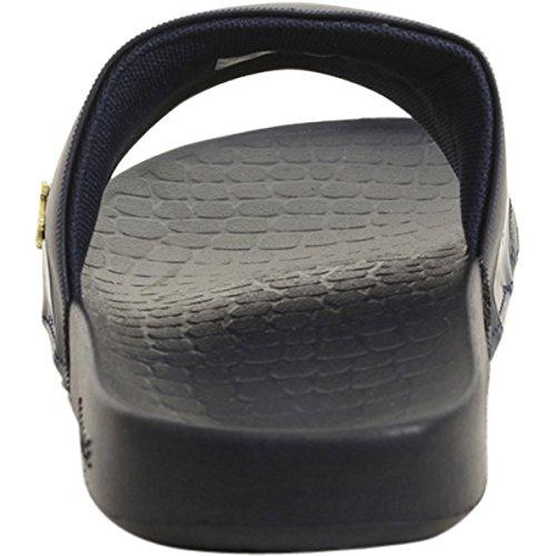 Lacoste Heren Aardbei 118 1 U Slide Sandaal Marine / Goud