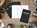 "Field Notebook - 3.5""x5.5"" - Black - Graph Memo"