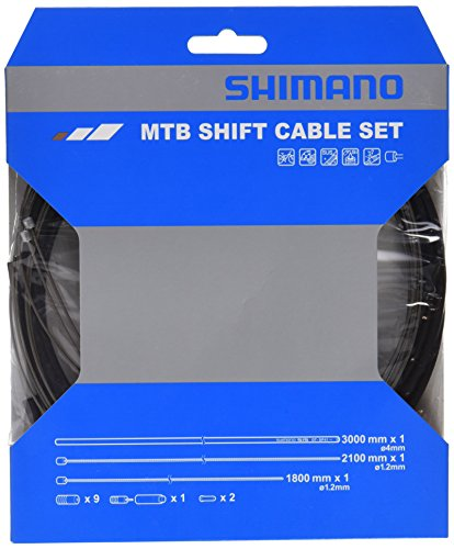 - SHIMANO MTB SUS Bicycle Shift Cable Set (Black)