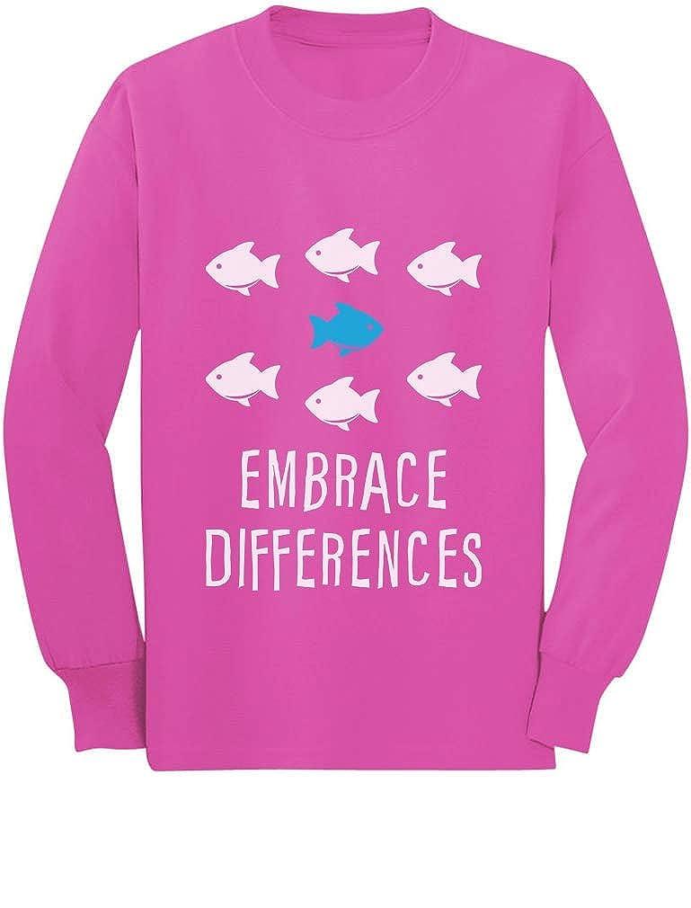 Embrace Differnces Tstars Autism Awareness Toddler//Kids Long Sleeve T-Shirt