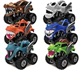 Joyin Toy 6 Pack Monster Friction Powered Truck Vehicles Big Tire Wheel Car Playset