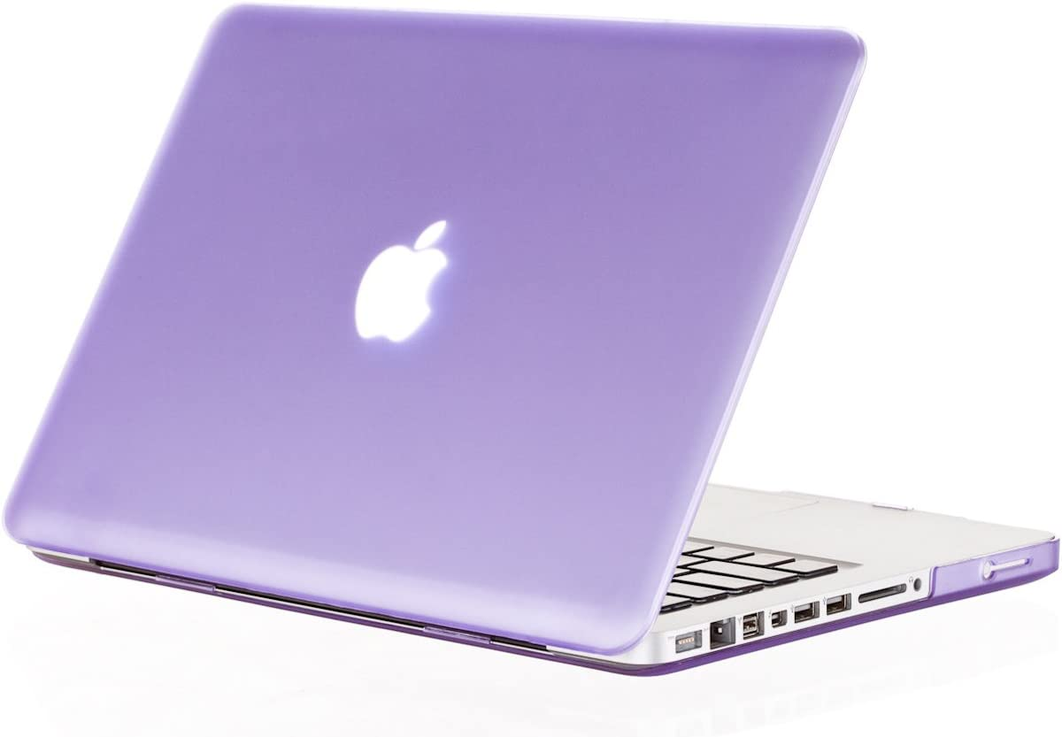 Kuzy - Older MacBook Pro 15.4 inch Case Model A1286 with DVD Drive Glossy Display Matte Soft Touch Plastic Cover - Purple