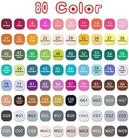Metallic Markers Pens Watercolour Brush Pen Set 80 Colours Art Pen Set Professional Wave166/® Watercolor Pen Set Best for Coloring Book//Comic//DIY Photo Albums