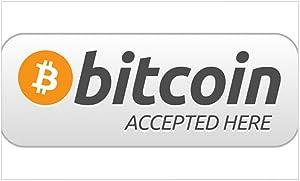 CafePress Bitcoin Accepted Here Sticker Rectangle Bumper Sticker Car Decal