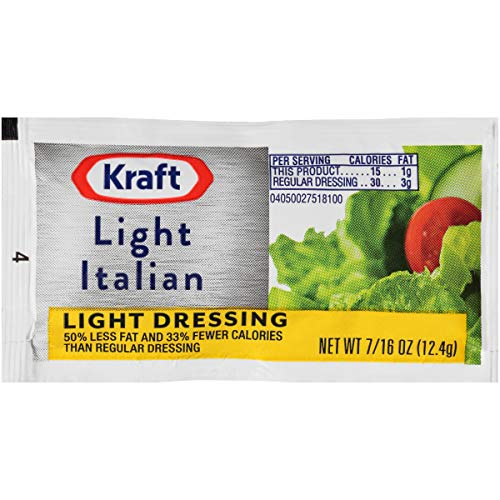 Kraft Italian Reduced Fat Salad Dressing (0.4 oz Packets, Pack of 200)