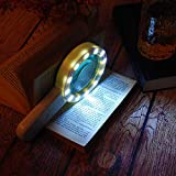 Magnifying Glass with Light, 30X Handheld Large