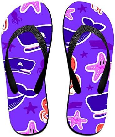 ビーチシューズ クジラ タコ ヒトデ 可愛らしい ビーチサンダル 島ぞうり 夏 サンダル ベランダ 痛くない 滑り止め カジュアル シンプル おしゃれ 柔らかい 軽量 人気 室内履き アウトドア 海 プール リゾート ユニセックス