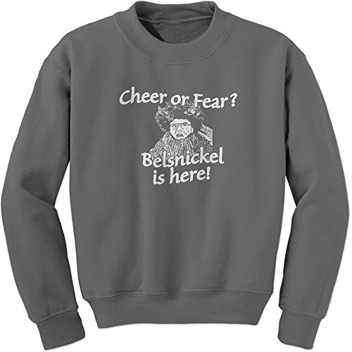 Crew Belsnickel Cheer Fear Adult Large Charcoal ()