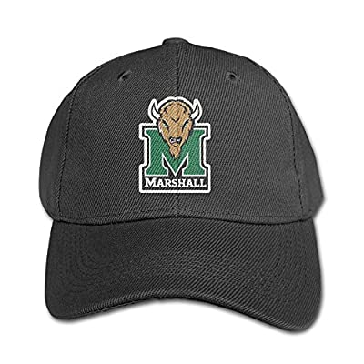 ACMIRAN Marshall University Thundering Herd Personalize Child Grid Cap One Size Black