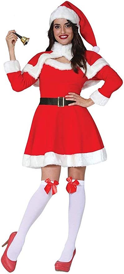 GUIRMA Babba Mami Disfraz navideño babbo económico Mujer: Amazon ...