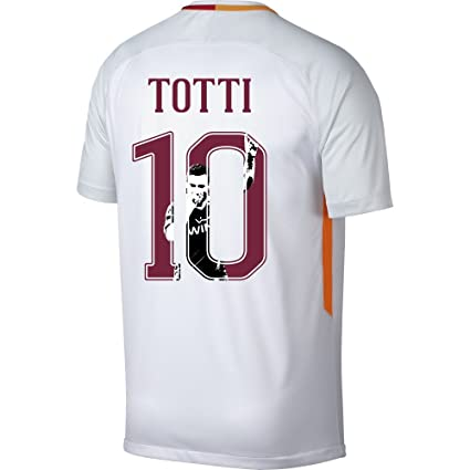 brand new ed1a6 a79df Nike AS Roma Away Totti Jersey 20172018 (Gallery Style Printing) - XXL