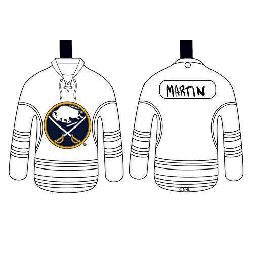 Team Sports America Buffalo Sabres Personalizable Jersey Ornament with Team Color Markers
