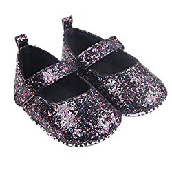 Lanhui Toddler Girl Soft Sole Crib Shoes Sequins Sneaker Baby Fashion Dance