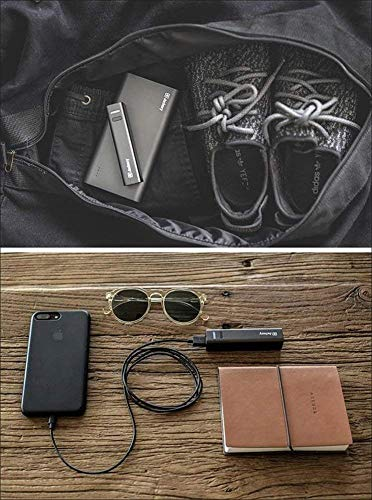 [The Smallest] Jackery Mini 3350mAh Portable Charger - External Battery Pack, Premium Aluminum Power Bank, Portable iPhone Charger for iPhone Xs max/Xs/XR/X/8/7/6/5, Samsung Galaxy S9/S8/S7/S6 (Black)
