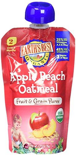 Earth's Best 2nd Foods Fruit & Grain - Apple Peach Oatmeal -
