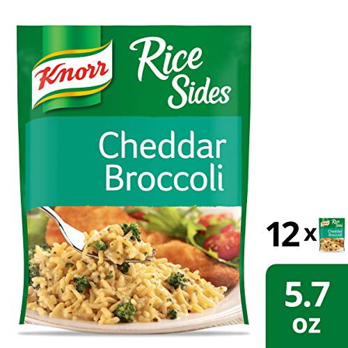 Knorr Rice Side Dish, Cheddar Broccoli, 5.7 oz, Pack of 12