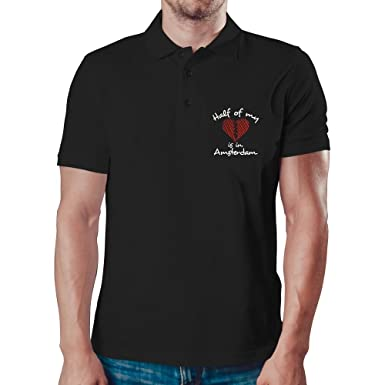 Eddany Half of my heart is in Amsterdam Polo Camisa: Amazon.es ...