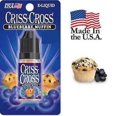 Criss Cross Vape Vapor USA 10ML Blueberry Muffin 0 mg Nicotine free