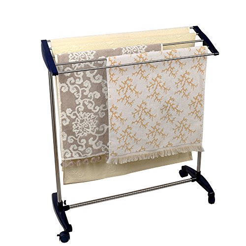 Baoyouni Clothes Towels Rolling Drying Rack Laundry Outdoor