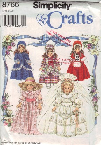 """Simplicity Sewing Pattern 8766 Dresses for 16"""" and 18"""" Co..."""