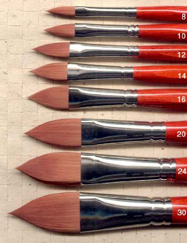 DaVinci Cosmotop Spin Oval Watercolor Brush Size 10