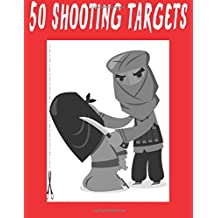 """#253 - 50 Shooting Targets 8.5"""" x 11"""" - Silhouette, Target or Bullseye: Great for all Firearms, Rifles, Pistols, AirSoft, BB, Archery & Pellet Guns!"""
