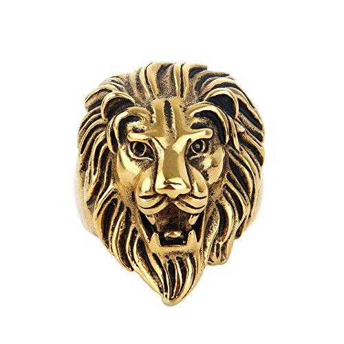 lion head ring - 7
