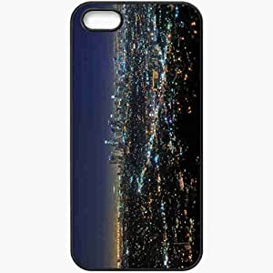 Protective Case Back Cover For iPhone 5 5S Case California Night Lights Black
