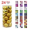 GameXcel Christmas Balls Ornaments for Xmas Tree - Shatterproof Christmas Tree Decorations Large Irregular Hanging Ball