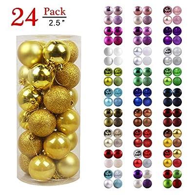 GameXcel Christmas Balls Ornaments for Xmas Tree - Shatterproof Christmas Tree Decorations Large Irregular Hanging Ball