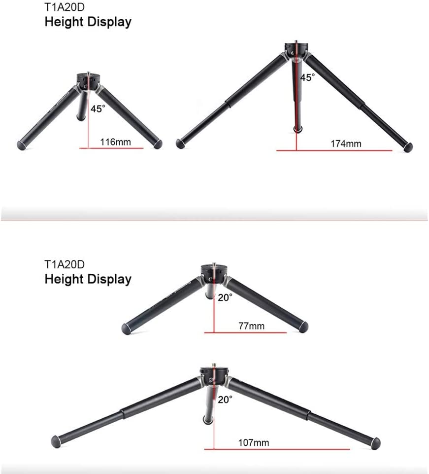 SUNWAYFOTO Adjustable 2-Knot Desk Tripod Stand W//Mini Dual-Panoramic Ballhead