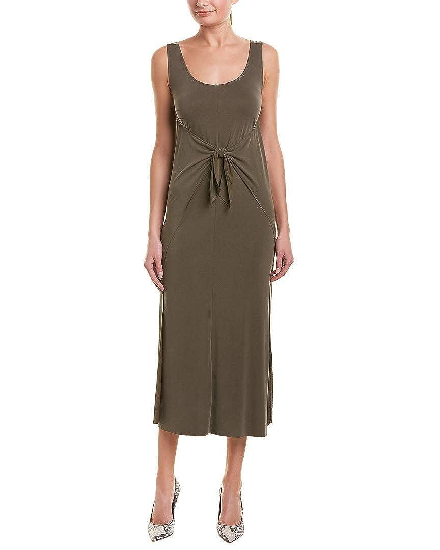 Bayleaf Green Vince Womens Sleeveless Wrap Dress