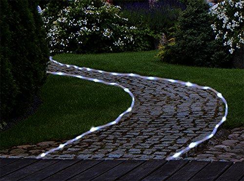 Solar Lichtschlauch 7 Meter mit 50 weißen LEDs und Erdspieß (1)
