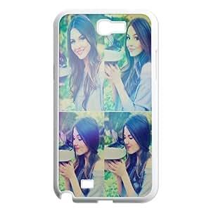 Samsung Galaxy Note 2 Cases, Victoria Justice Rabbits Cute Design Cases for Samsung Galaxy Note 2 {White}